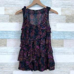 Dark Floral Blouse Purple Express
